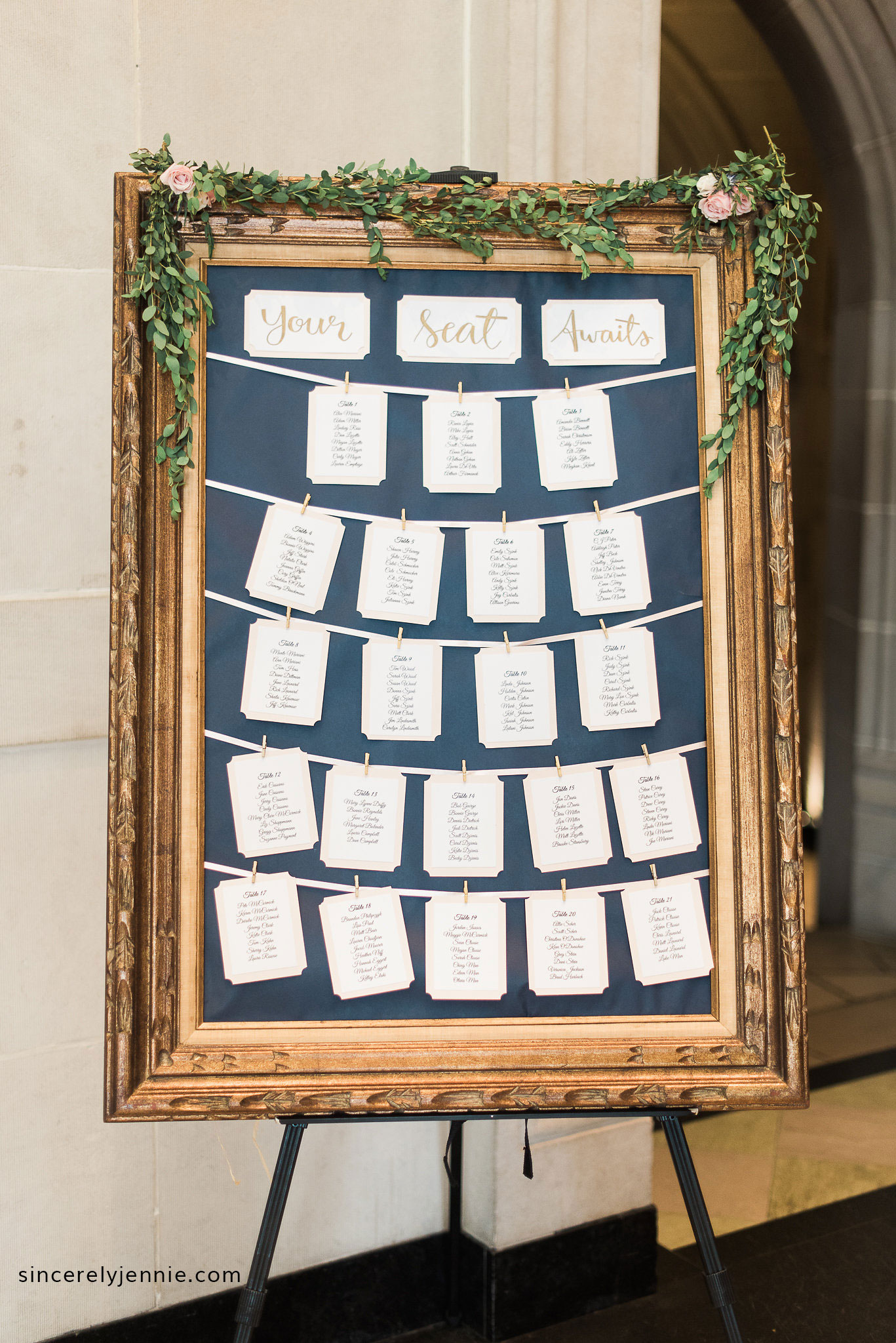 Sincerely Jennie Diy Wedding Seating Chart Instructions Supplies